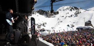 Rock the piste festival dans la neige