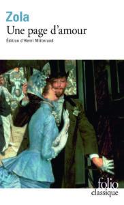 couverture du livre une page d'amour d'emile zola