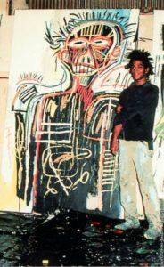 basquiat dans son atelier