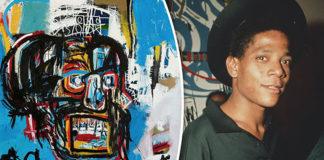 basquiat et une de ses oeuvres