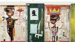 un des tableaux de basquiat à l'exposition fondation louis vuitton