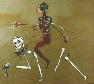 basquiat tableau reding with death