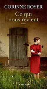 """couverture du livre """"Ce qui nous revient"""" de corinne royer"""