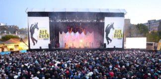grande scène du festival art rock