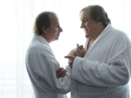 michel houellebecq et gerard depardieu dans le film thalasso