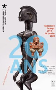 affiche 20 ans les acquisitions du musee du quai branly jacques chirac