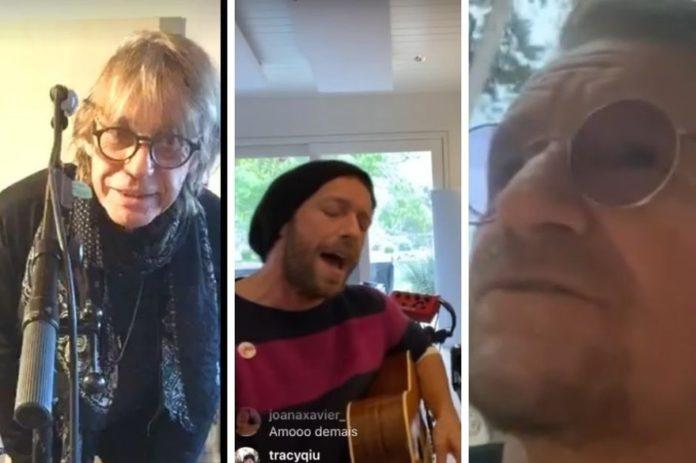 artistes concerts à la maison sur les reseaux sociaux
