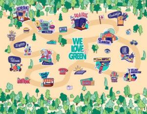 we love green tv la map