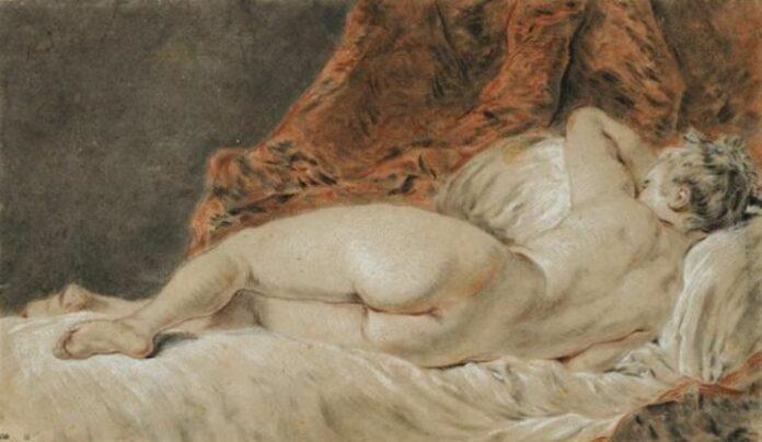 françois boucher femme allongee vue de dos